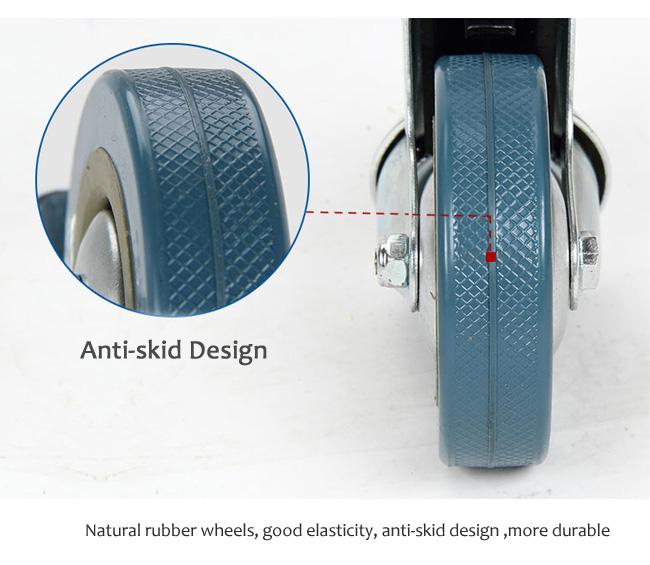 YA-006 Medical 304 Fan Shape Instrument Trolley With Casters