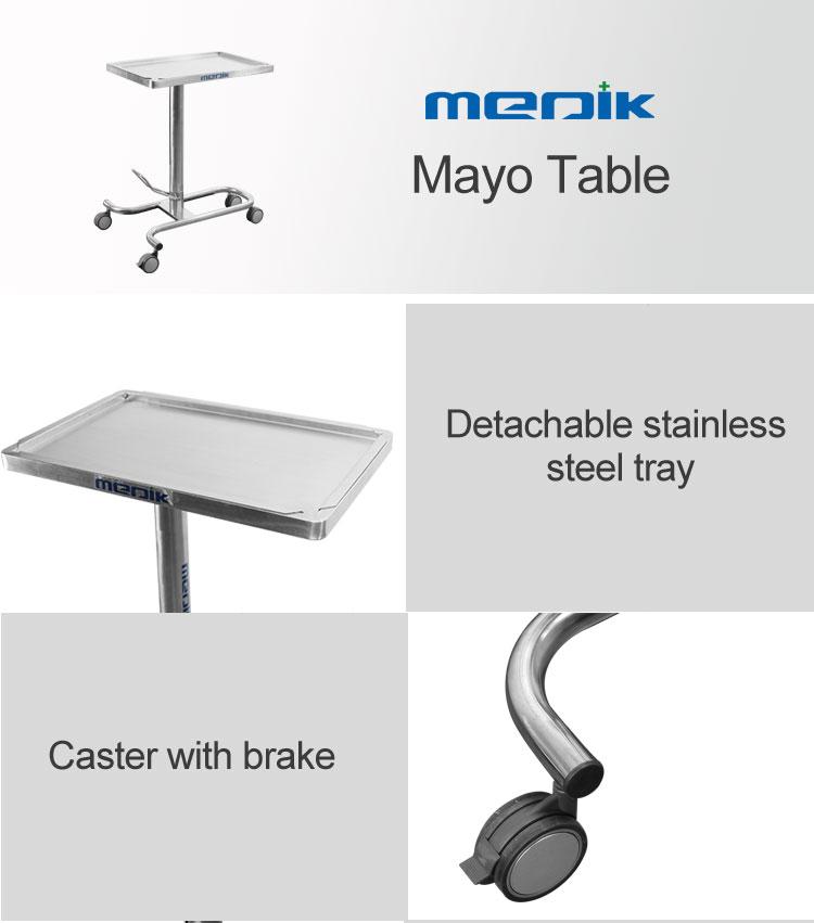 YA-082 Stainless Steel Hydraulic Mayo Table