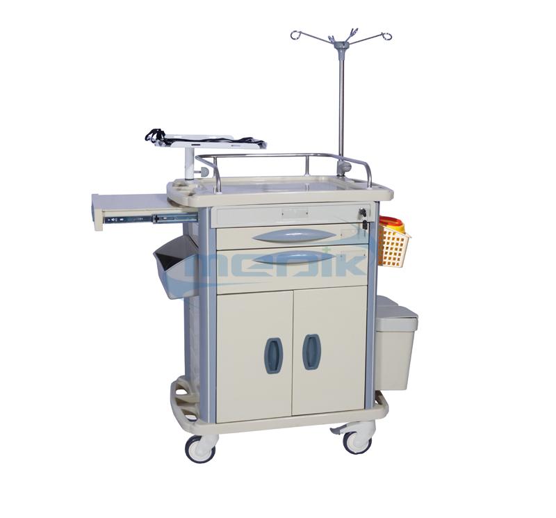 Carro De Paro Hospitalario Funcional Ruedas ABS MK-P03