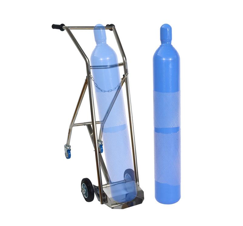 Carro para transporte bala oxígeno médico MK-S35