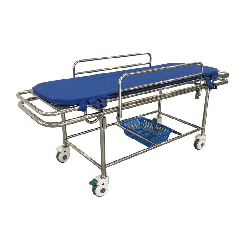 Carro camilla para traslado de pacientes manual de acero inoxidable YA-PS09