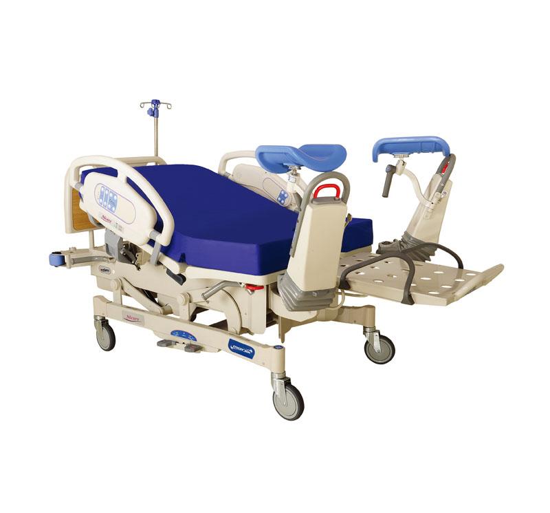 La nueva cama de maternidad Mcare se desarrolló con éxito después de cinco años de investigación y prueba con excelentes comentarios.