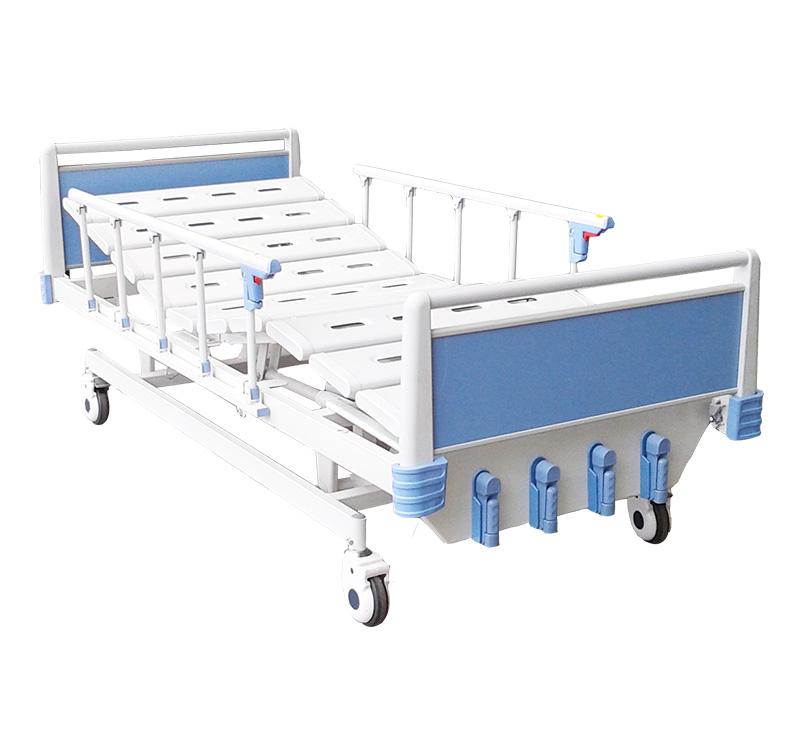 Cama para hospital mecánica de 5 posiciones con ruedas YA-M5-5