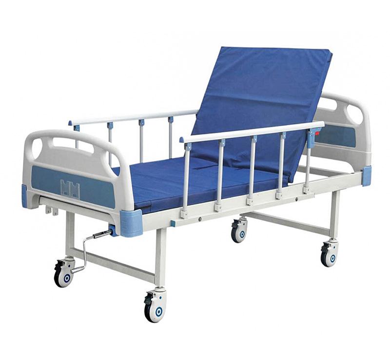Cama de hospital manual con ruedas YA-M1-1