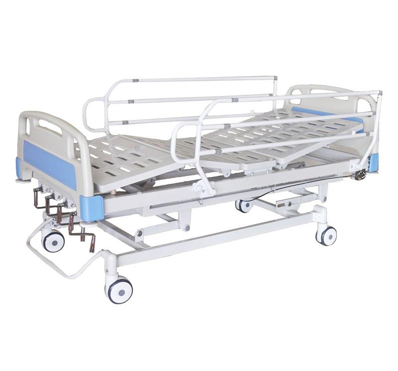 Cama para hospital de 4 secciones con ruedas YA-M5-4