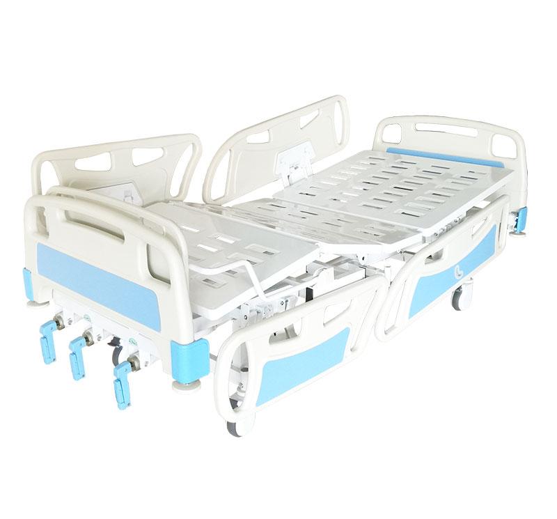 Camas hospitalaria manual 3 manivelas con ruedas YA-M3-2