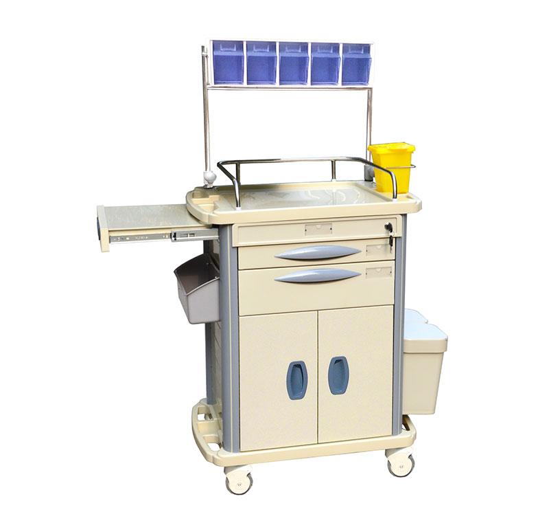 MK-P09 Carro de anestesia para medicamentos con bandejas