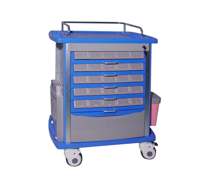 Carros de tratamiento 5 cajones en plastico MK-P11