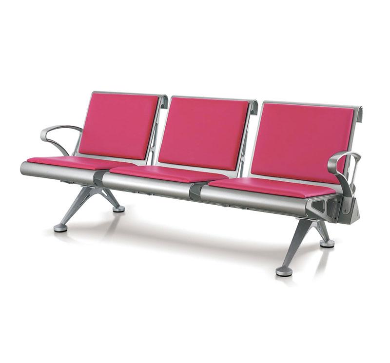 Banca tandem steel tapizada 3 plazas YA-W06
