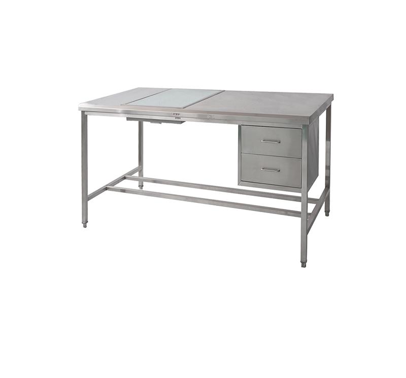 Mesa de trabajo con dos cajones acero inoxidable CSD-P01