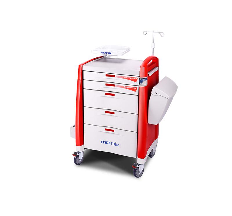 Carro de emergencia para medicamentos  con cajón 1 bandeja MK-P01