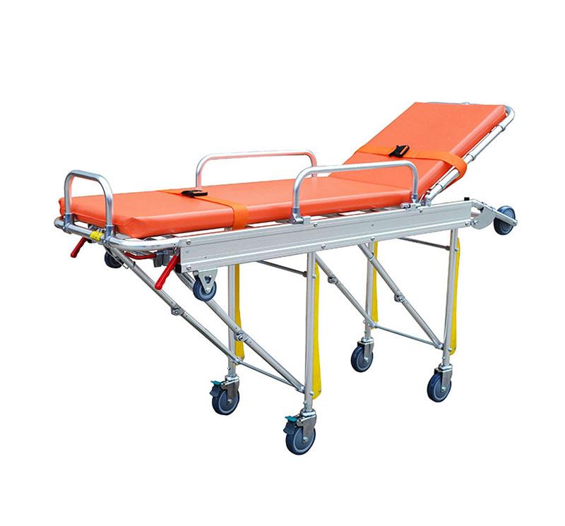 Camilla para ambulancias con ruedas y respaldo YA-AS02