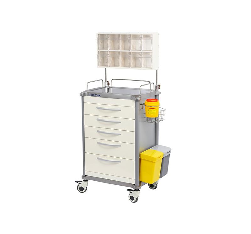 Carro de anestesia de 5 cajones MK-C06