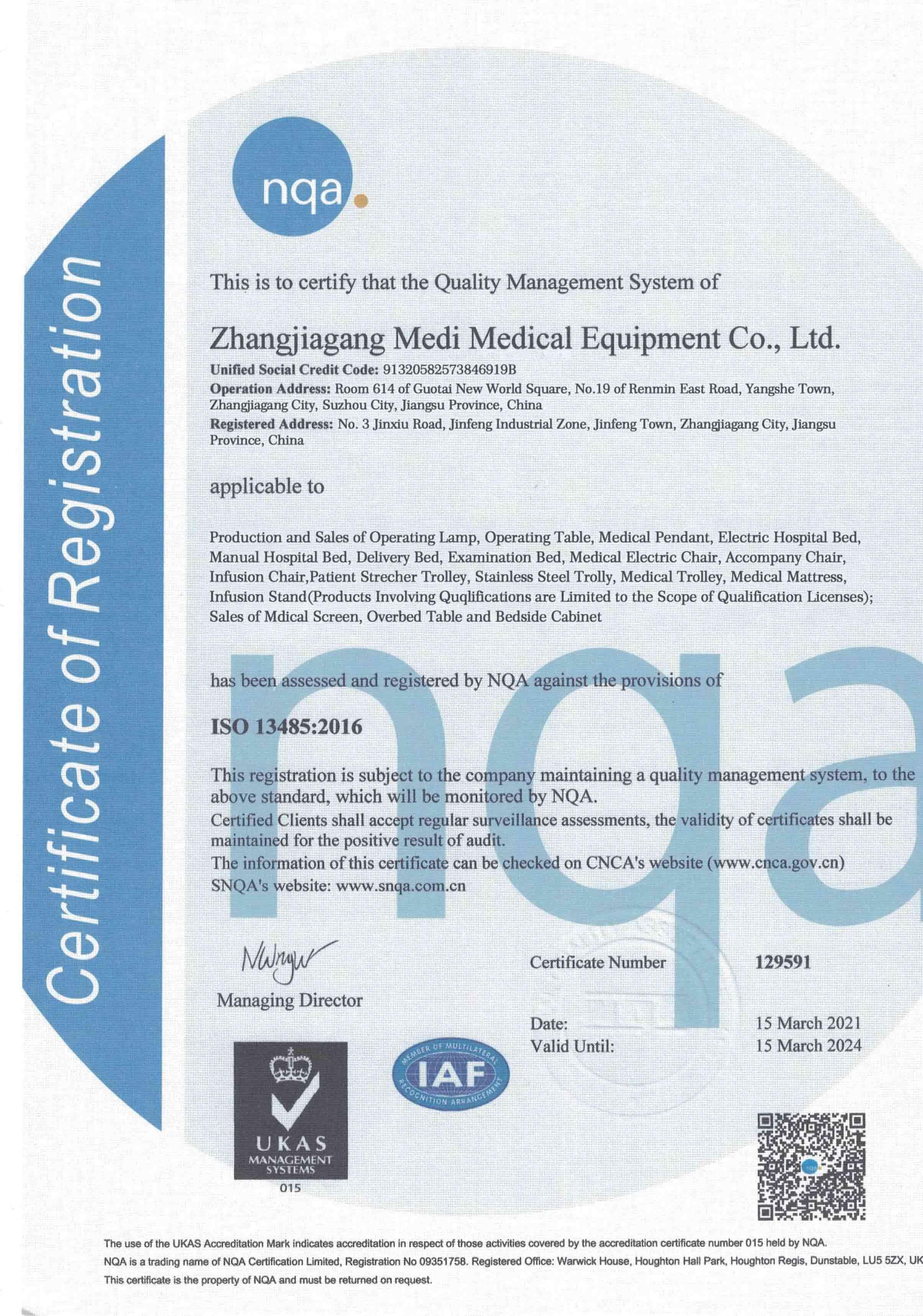 MEDI EN ISO 13485